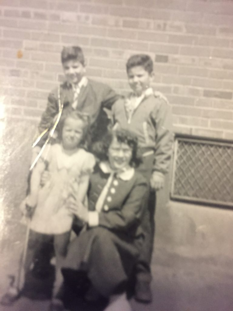 Donato with his brother Tony, sister Frances, and a neighbor
