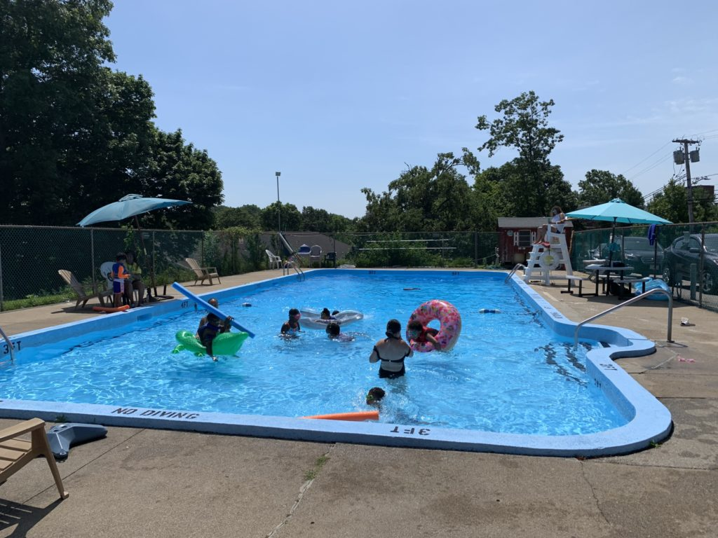 The pool in July 2019