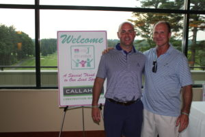 Steve Callahan Jr, tournament chair with his father Steve Callahan Sr.