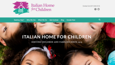 Italian Home for Children New Website