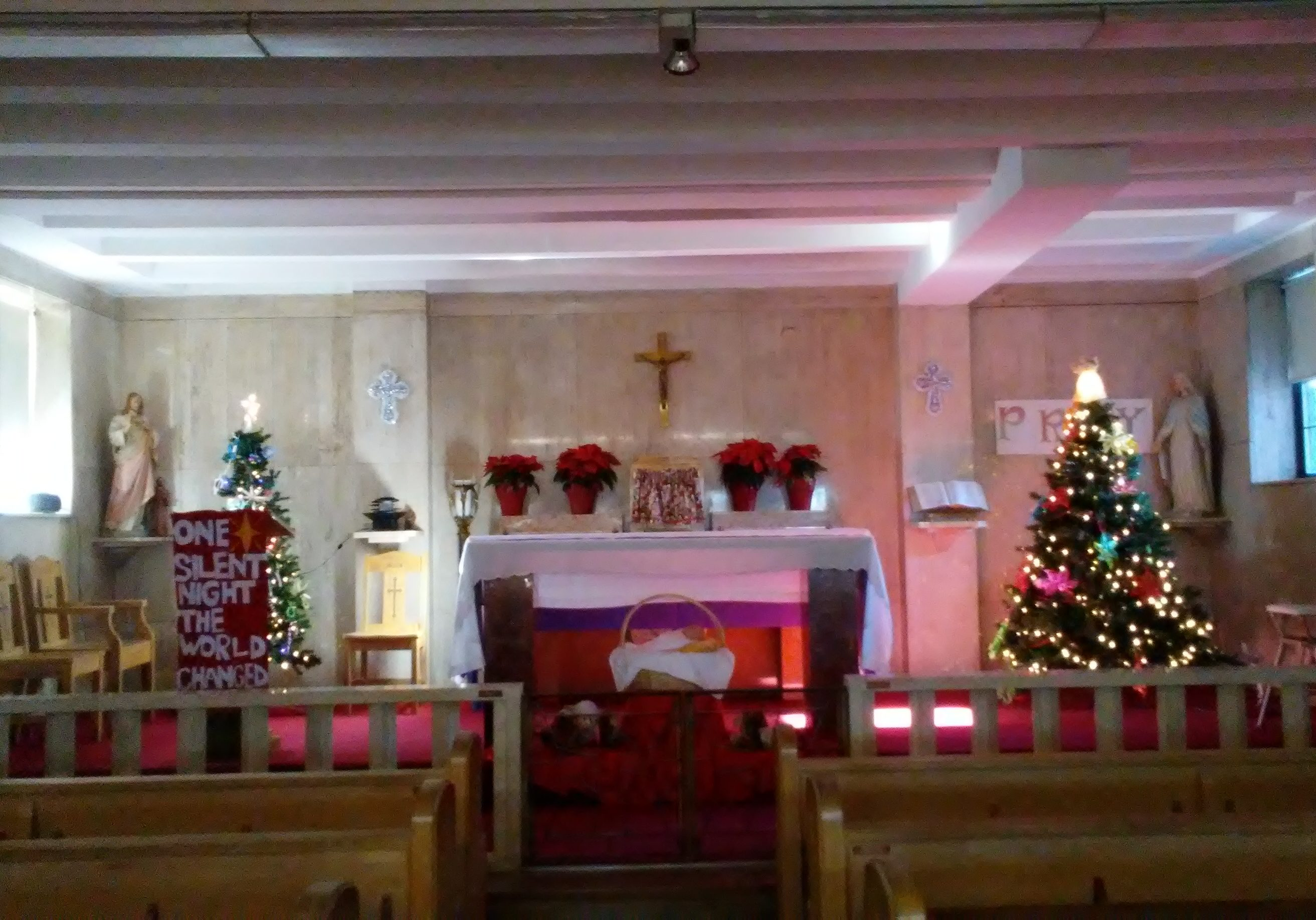 Italian Home Altar at Christmas